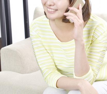 電話エッチをする女性